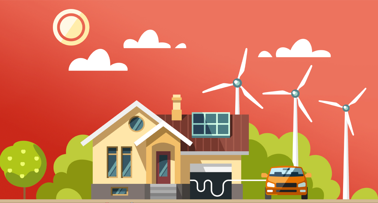 Bulb or Scottish Power: Homemade image of a house run on renewable energy.