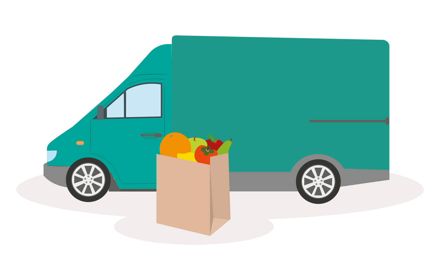 food delivery illustration for helpful helplines article