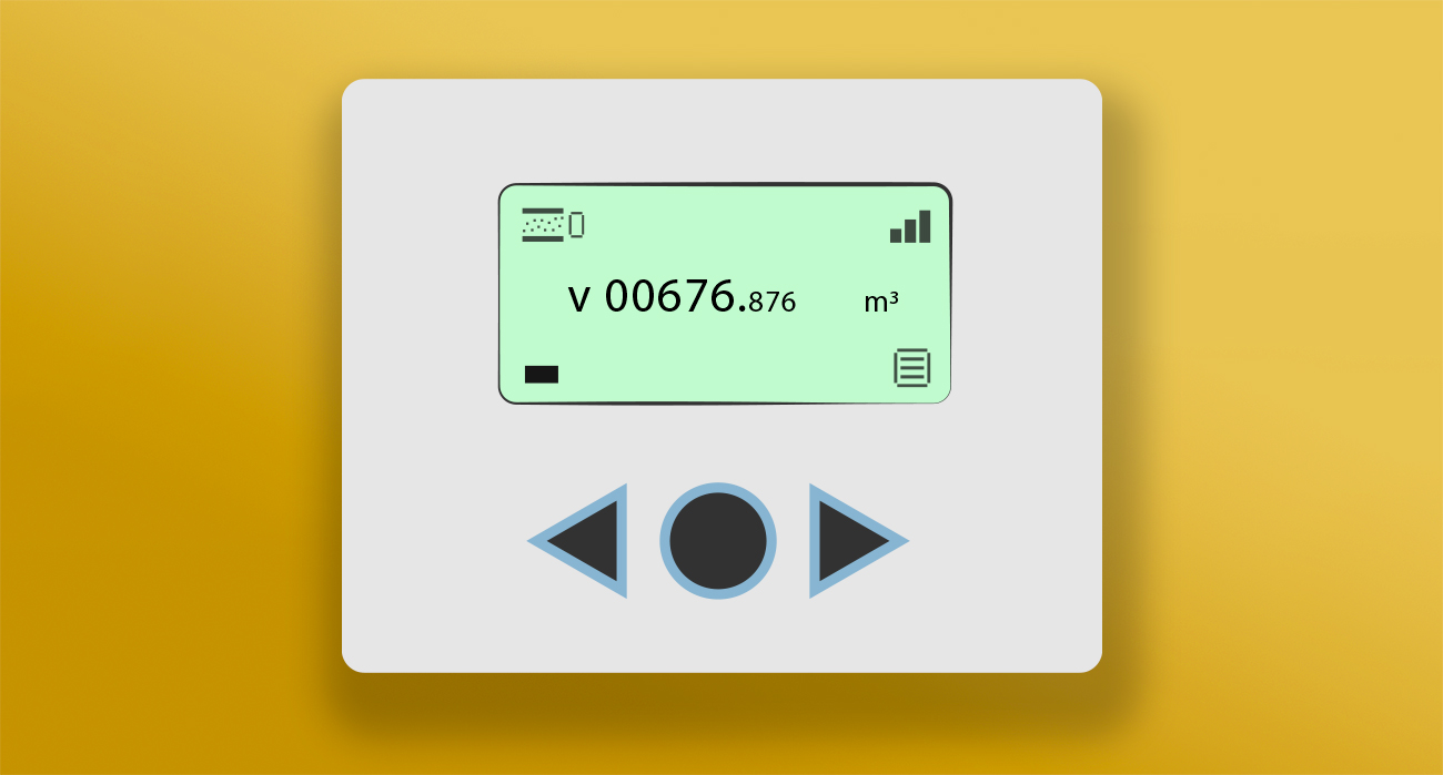 Smart meter with arrow buttons