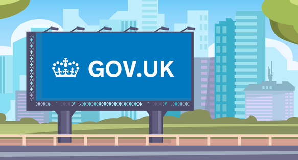a homemade illustration of a GOV.UK sign