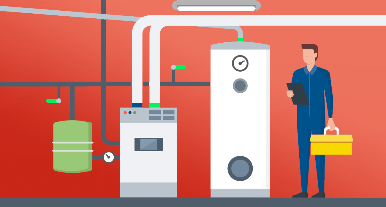 Bulb or Scottish Power: Homemade image of a man servicing a boiler to represent the additional services that some energy suppliers offer.